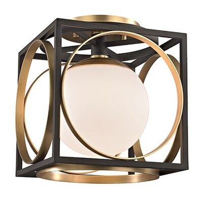 Romans 1-Light Semi Flush Finish: Aged Brass