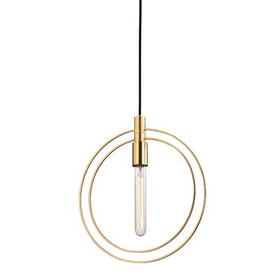 Watermill 1-Light Mini Pendant Finish: Old Bronze