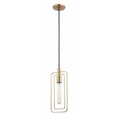 Watermill 1-Light Pendant Finish: Aged Brass