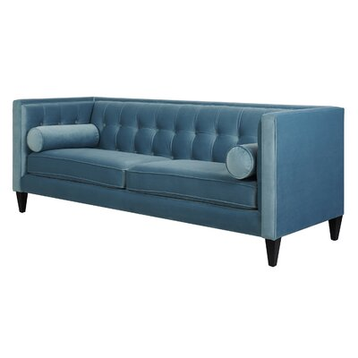 Pineview Tuxedo Chesterfield Sofa Upholstery: Arctic Blue