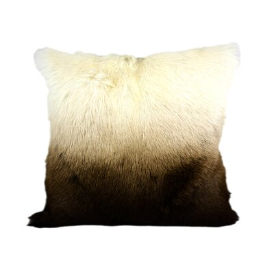 Viridian Goat Fur Throw Pillow