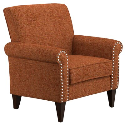 Gruber Arm Chair Upholstery: Amber Orange