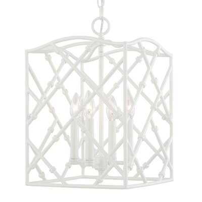 Wadhurst 4-Light Foyer Pendant Finish: Glossy White, Size: 18 H x 12 W x 12 D