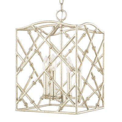 Hester 4-Light Foyer Pendant Finish: Winter Gold, Size: 18 H x 12 W x 12 D