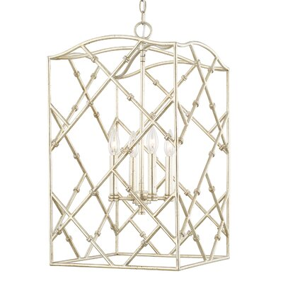 Hester 4-Light Foyer Pendant Finish: Winter Gold, Size: 26.5 W x 15 W x 15 D