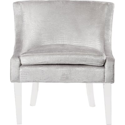 Henriques Velvet Barrel Chair Fabric: Silver Croc