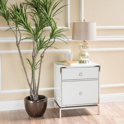 Collier 2-Drawer Side Table