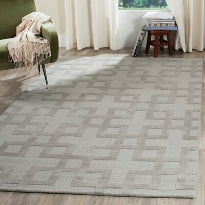Lamar Hand-Loomed Grey Area Rug Rug Size: Square 6 x 6
