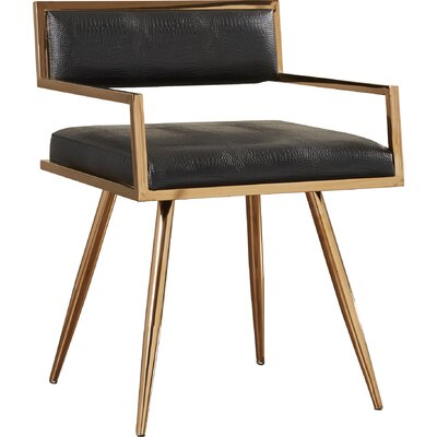 Jayleen Genuine Leather Upholstered Dining Chair