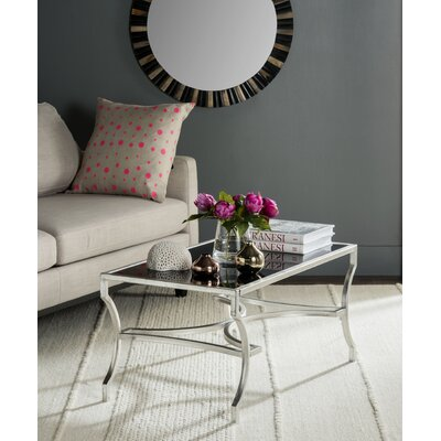 Odalis Coffee Table Table Base Color: Silver, Table Top Color: Black