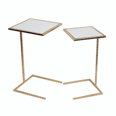 Poole 2 Piece Iron End Table Set