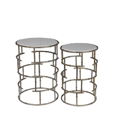 Potters 2 Piece Stone End Table Set