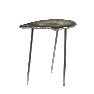 Dia Metal End Table Finish: Silver Leaf