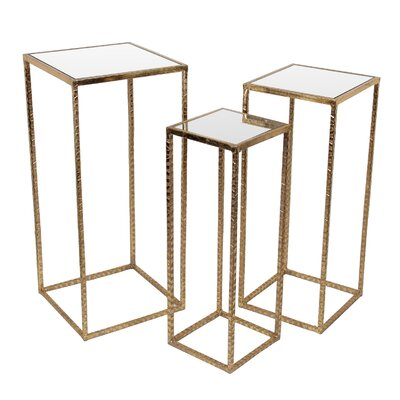 Poole 3 Piece Iron End Table Set