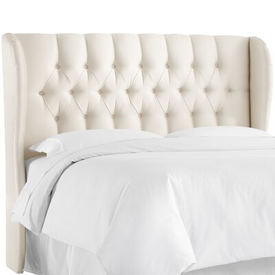 Abrego Tufted Wingback Headboard Size: Queen, Upholstery: Pearl