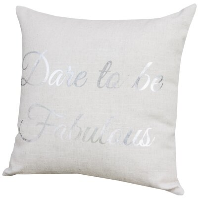 Rhiannon Dare to Be Fabulous Throw Pillow