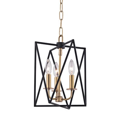 Fitz 3-Light Foyer Pendant Finish: Aged Brass