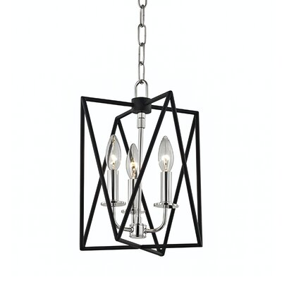 Fitz 3-Light Foyer Pendant Finish: Polished Nickel