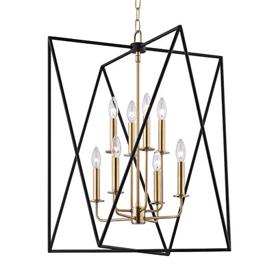 Fitz 8-Light Foyer Pendant Finish: Aged Brass, Size: 28.75 H x 28.75 W x 28.75 D