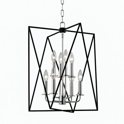 Fitz 8-Light Foyer Pendant Finish: Polished Nickel, Size: 22.5 H x 18.25 W x 18.25 D