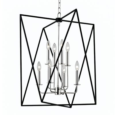 Fitz 8-Light Foyer Pendant Finish: Polished Nickel, Size: 28.75 H x 28.75 W x 28.75 D