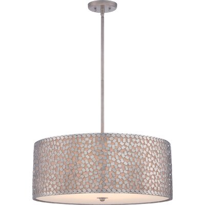 Whitby 5-Light Drum Pendant Finish: Old Silver