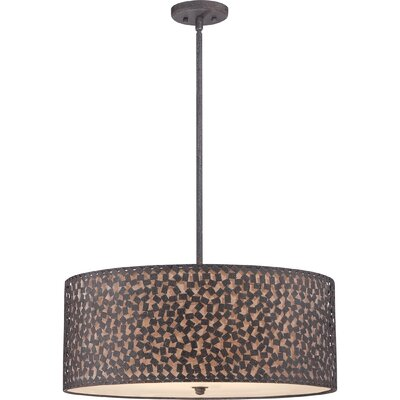 Whitby 5-Light Drum Pendant Finish: Rustic Black