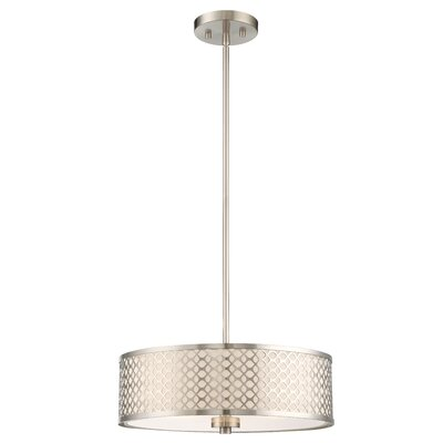 Westrem 3-Light Drum Pendant Finish: Chrome