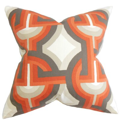 Westerlo Geometric Bedding Sham Color: Orange, Size: King