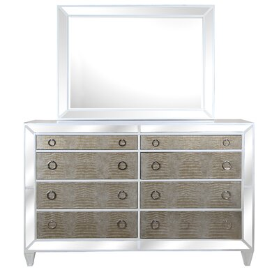 Ponti 8 Drawer Dresser with Mirror