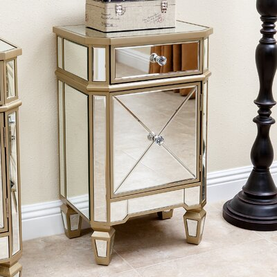 Marleigh Mirrored End Table