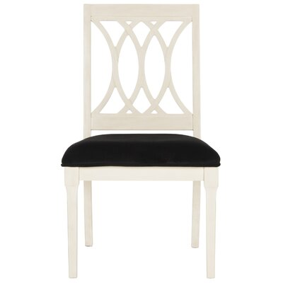 Layla Upholstered Dining Chair Upholstery: Navy