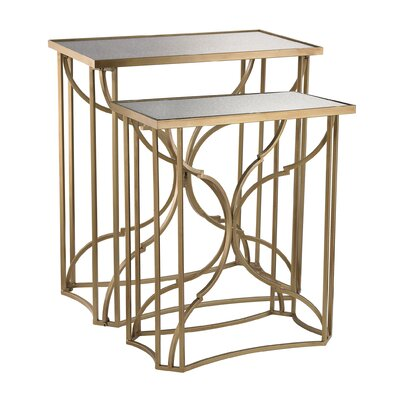 Mara 2 Piece Scroll End Table Set