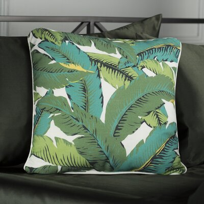 Bultfontein Leaves Outdoor Throw Pillow Size: 16 H x 16 W x 4 D
