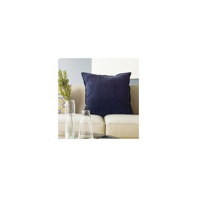 Yvonne Poms Velvet Throw Pillow Cover Size: 18 H x 18 W x 1 D, Color: BlueGreen