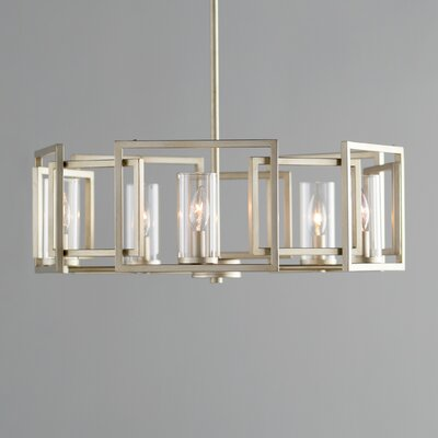 Sean 5-Light Candle-Style Chandelier Finish: White Gold