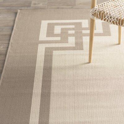 Deco Frame Beige / Dark Beig Area Rug Rug Size: Runner 27 x 82