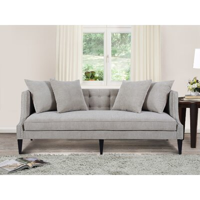 Kinsley Sofa Upholstery: Silver Grey