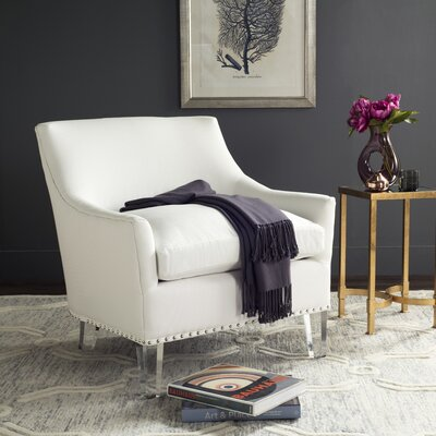Becket Armchair Upholstery: White