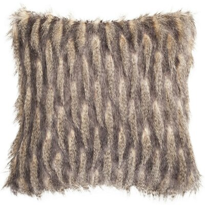 Petworth Faux Pheasant Throw Pillow Color: Taupe/Charcoal