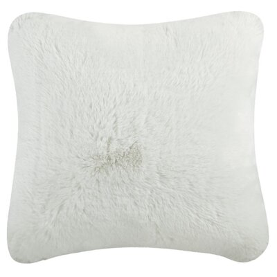 Phyle Faux Chinchilla Throw Pillow Color: Snow White