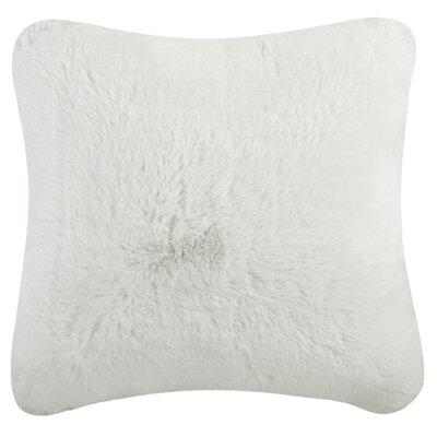 Blatherwick Faux Chinchilla Throw Pillow Color: Snow White