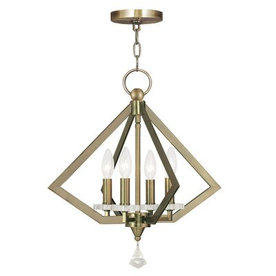 Balham 4-Light Foyer Pendant Finish: Antique Brass