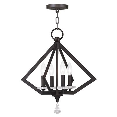 Balham 4-Light Foyer Pendant Finish: Bronze