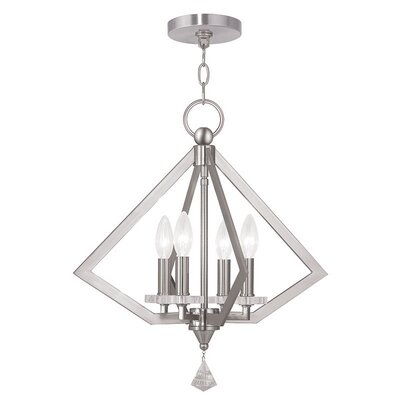 Balham 4-Light Foyer Pendant Finish: Brushed Nickel