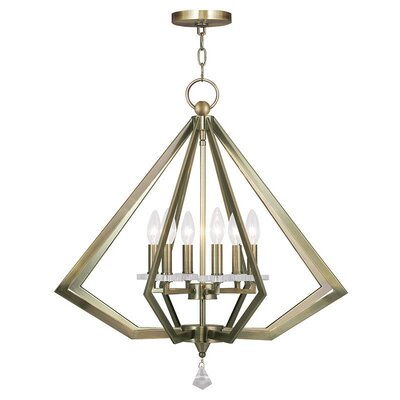 6-Light Foyer Pendant Finish: Antique Brass