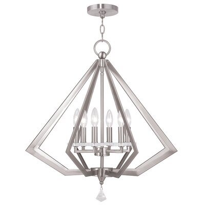 Camacho 6-Light Foyer Pendant Finish: Brushed Nickel