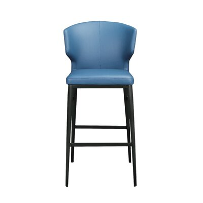 Wimbledon 30 Bar Stool Upholstery: Blue