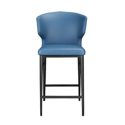 Wimbledon 26 Bar Stool Upholstery: Blue