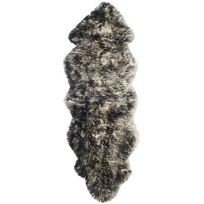 Witney Ivory / Dark Gray Area Rug Rug Size: Runner 2 x 6